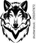 tattoo wolf head  | Shutterstock .eps vector #250247872