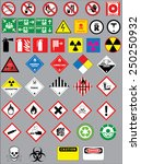 chemistry hazard and warning... | Shutterstock .eps vector #250250932