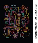 abstract art vector composition.... | Shutterstock .eps vector #250255312