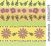 floral seamless decorative... | Shutterstock .eps vector #250261375