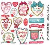 wedding  day valentine love...   Shutterstock .eps vector #250273192