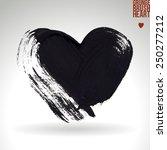brush stroke and texture. heart ... | Shutterstock .eps vector #250277212