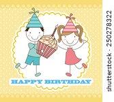 birthday design  vector... | Shutterstock .eps vector #250278322
