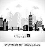 urban design over white... | Shutterstock .eps vector #250282102