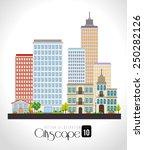 urban design over white...   Shutterstock .eps vector #250282126