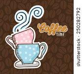 delicious coffee design  vector ... | Shutterstock .eps vector #250282792