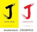 j  chinese brush grunge font ... | Shutterstock .eps vector #250284922