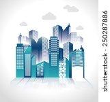 urban design over white... | Shutterstock .eps vector #250287886