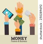 money design over beige... | Shutterstock .eps vector #250289692