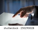close up of businessman hand... | Shutterstock . vector #250290028