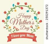 happy mothers day card  vector... | Shutterstock .eps vector #250291372