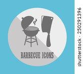 barbecue icon design  vector... | Shutterstock .eps vector #250291396