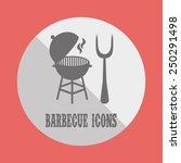 barbecue icon design  vector... | Shutterstock .eps vector #250291498