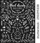 hand drawn chalkboard design...   Shutterstock .eps vector #250295338