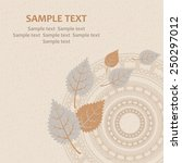 business card with ornament and ... | Shutterstock .eps vector #250297012