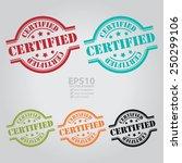 vector   certified stamp  icon  ... | Shutterstock .eps vector #250299106