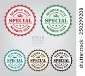vector   special member only... | Shutterstock .eps vector #250299208