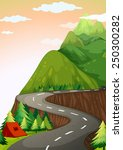 illustration of a road up hill... | Shutterstock .eps vector #250300282