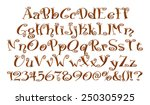 alphabet letters  numbers and... | Shutterstock . vector #250305925