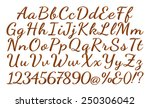 alphabet letters  numbers and... | Shutterstock . vector #250306042
