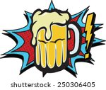 comic beer | Shutterstock .eps vector #250306405