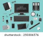 flat design. vector... | Shutterstock .eps vector #250306576