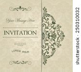 retro invitation or wedding... | Shutterstock .eps vector #250310032
