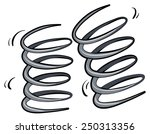 a spring on a white background | Shutterstock .eps vector #250313356