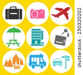 tourism travel icon | Shutterstock .eps vector #250320202