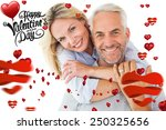happy couple standing and... | Shutterstock . vector #250325656