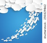 paper clouds with arrows chart...   Shutterstock .eps vector #250329862