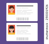 id cards with the cute persons. ... | Shutterstock .eps vector #250331926