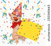 carnival party  cats  hangover  ... | Shutterstock . vector #250340665