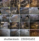Petroglyphs On The Stone In...