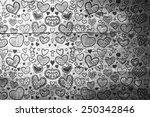 heart pattern against overhead...   Shutterstock . vector #250342846