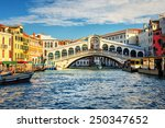 The Grand Canal And Rialto...