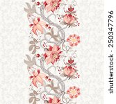 seamless vector floral...