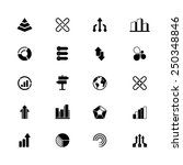 a set of 20 abstract icons  ... | Shutterstock .eps vector #250348846