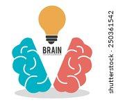 brain design over white... | Shutterstock .eps vector #250361542