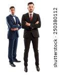 rich and elegant business men... | Shutterstock . vector #250380112