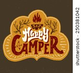 'happy Camper' Humorous Hand...