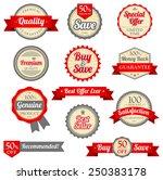 vintage labels set. | Shutterstock .eps vector #250383178