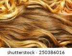 beautiful blond hair closeup | Shutterstock . vector #250386016
