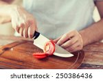 cooking and home concept  ...   Shutterstock . vector #250386436