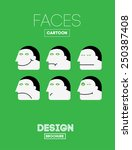 funny vector emotions head or... | Shutterstock .eps vector #250387408