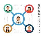 social network design  vector... | Shutterstock .eps vector #250399882