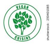 vegan menu design  vector... | Shutterstock .eps vector #250401085