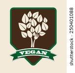 vegan menu design  vector... | Shutterstock .eps vector #250401088