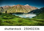 big almaty lake in the... | Shutterstock . vector #250402336