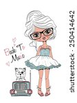 fashion girl | Shutterstock .eps vector #250414642